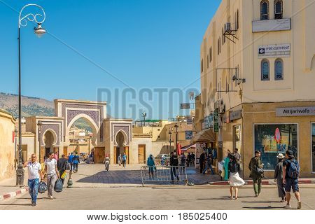 FEZ ,MOROCCO - APRIL 6,2017 - In the streets of city Fez in Morocco. Fez city has been called the