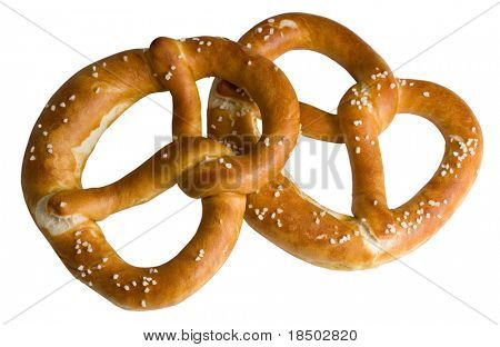 Two bavarian pretzel from the Oktoberfest in Munich