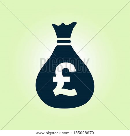 Pound GBP currency symbol. Flat design style.