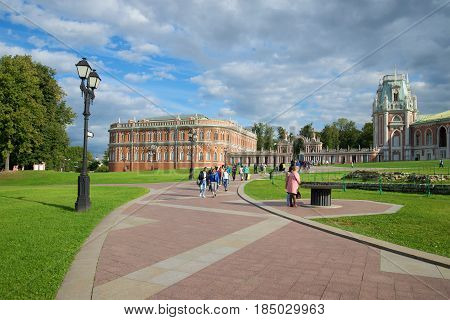 MOSCOW, RUSSIA - SEPTEMBER 06, 2016: September day in Tsaritsyno