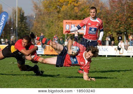 HEIDELBERG, Germany - October 18: Rugby European Championship U21 - Germany vs. Portugal October 18, 2008 in Heidelberg, Germany.