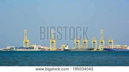Cargo Port In Penang, Malaysia