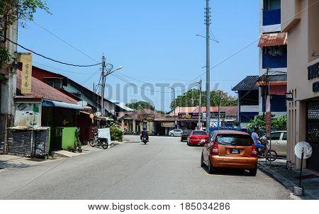 Street In George Town, Malaysia