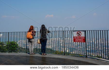 People Standing On Observation Deck