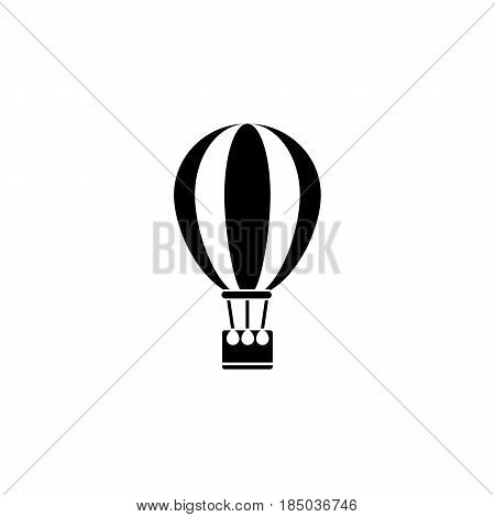 Hot air balloon solid icon, travel tourism, fly transport, a filled pattern on a white background, eps 10.
