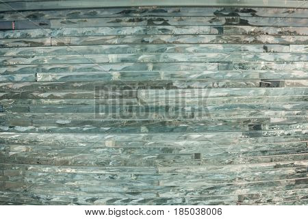 Texture Glass. Mosaic. The Composition Of The Glass. Watercolor
