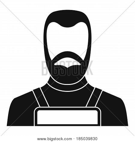 Blacksmith icon in simple style isolated vector illustration