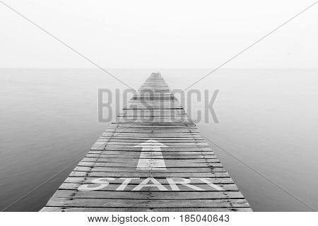 Concept of start straight for business / soft focus picture / Vintage concept