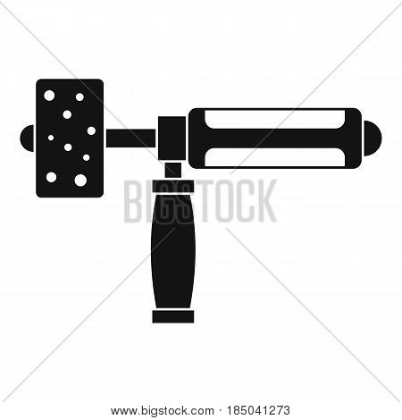 Precision grinding machine icon in simple style isolated vector illustration