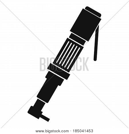 Pneumatic screwdriver icon in simple style isolated vector illustration