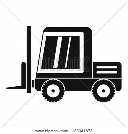 Stacker loader icon in simple style isolated vector illustration