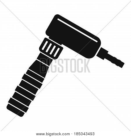 Hand draw rotary tattoo machine icon in simple style isolated vector illustration
