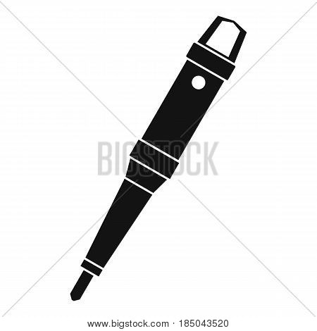 Grip of tattoo machine icon in simple style isolated vector illustration