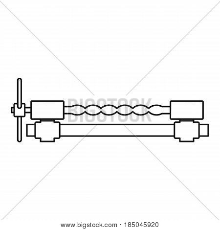 Blacksmiths clamp icon in outline style isolated vector illustration