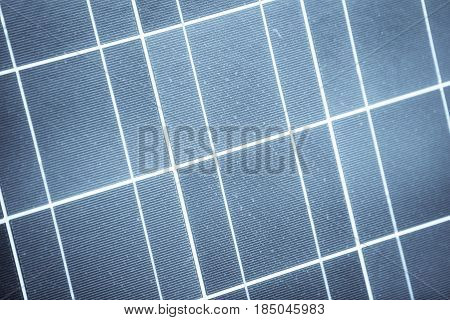 Close up image with the cells of a solar panel.