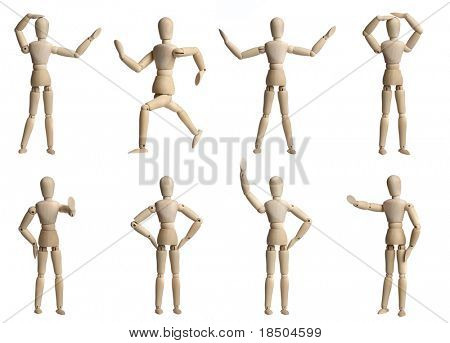 Collection of wooden Mannequins