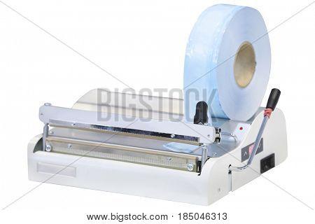 gluing machine close up