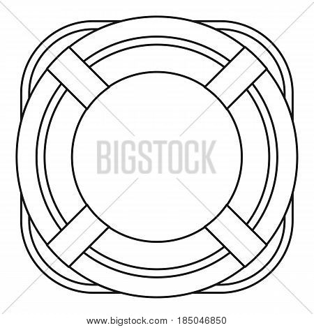 Lifebuoy icon in outline style isolated vector illustration