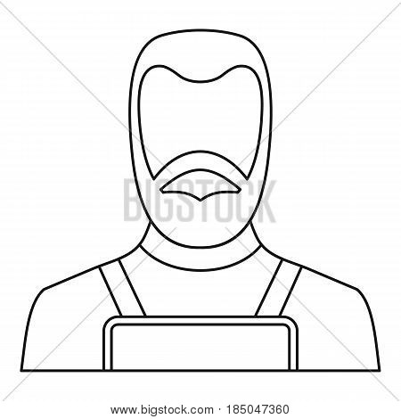 Blacksmith icon in outline style isolated vector illustration