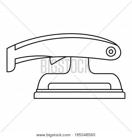 Fret saw icon in outline style isolated vector illustration