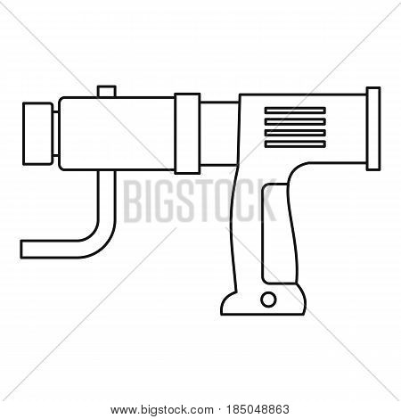 Hand drill icon in outline style isolated vector illustration