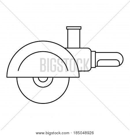 High speed cut off machine icon in outline style isolated vector illustration