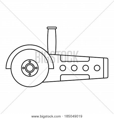 Circular saw icon in outline style isolated vector illustration