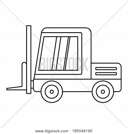Stacker loader icon in outline style isolated vector illustration