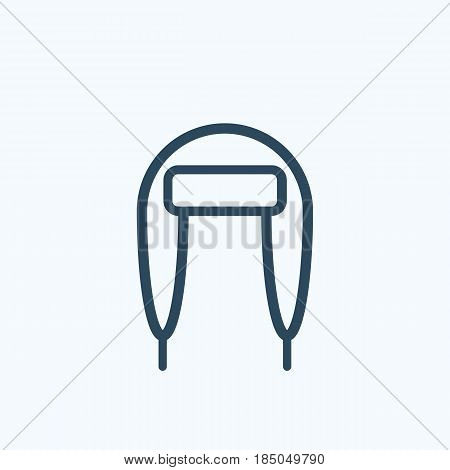 Winter Hat With Ear Flaps Vector Icon. Vector Sign Symbol.