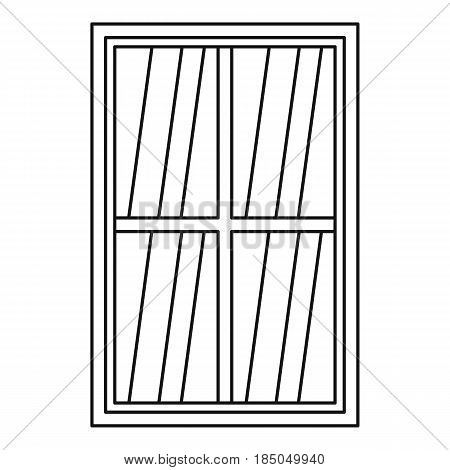 White rectangle window icon in outline style isolated vector illustration