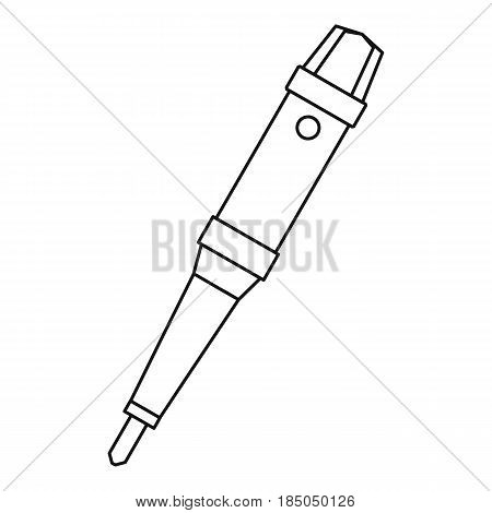 Grip of tattoo machine icon in outline style isolated vector illustration