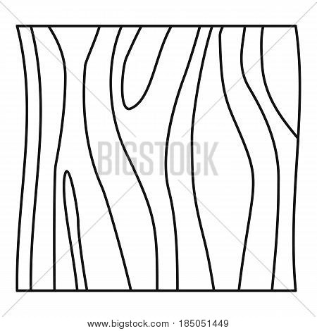 Slice of ham icon in outline style isolated vector illustration