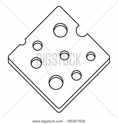 Cheese fresh block icon in outline style isolated vector illustration