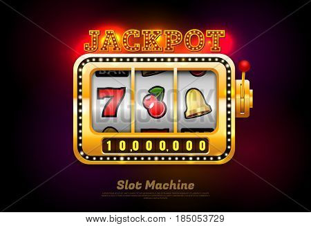 slot machine the machine spin vector illustration