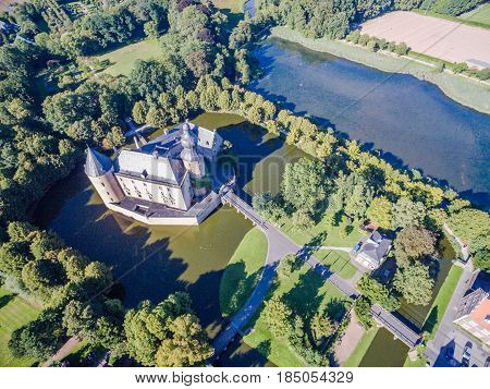 The historic Castle Gemen in Westphalia, Germany, Europe