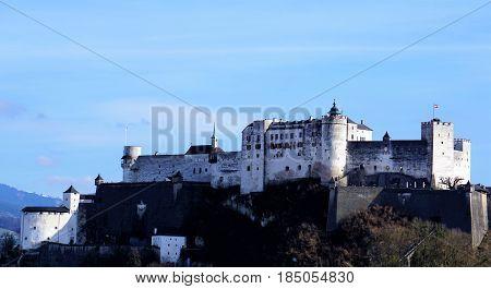 View on Hohensalzburg Castle in Salzburg Austria
