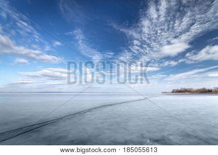 Bright winter landscape / bright winter photo beautiful warm day Ukraine