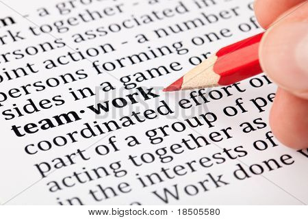 Teamwork - definition in a dictionary