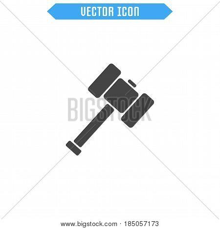 Sledgehammer Icon Flat. Hammer Icon. Vector Sign Symbol.