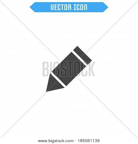 Pen Icon Flat. Pencil Icon. Vector Sign Symbol.