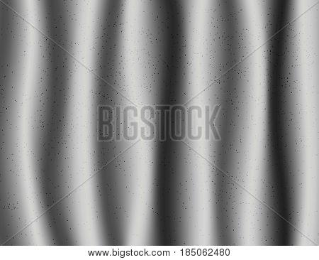 Beautiful Grey Drapery Silk textile Background. Vector Illustration.