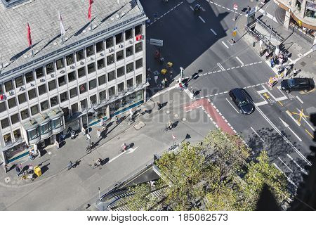 Central Cologne Streets From Above, Germany, Editorial