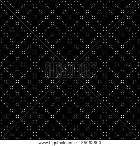 Vector minimalist seamless pattern, simple dark monochrome geometric texture. Diagonal thin lines, repeat tiles. Abstract minimalistic black & white background. Design for decor, digital, web, textile