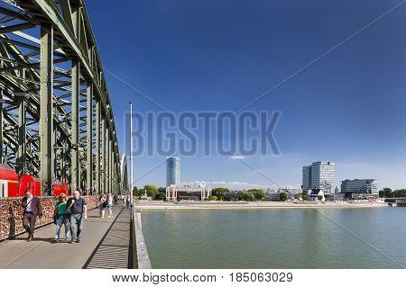 People On Hohenzollern Bridge, Germany, Editorial