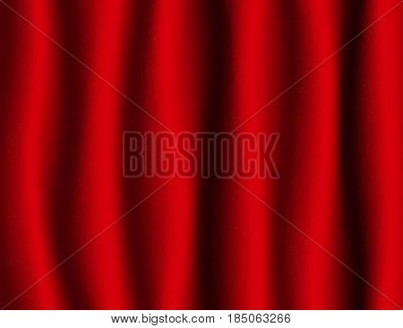 Beautiful Red Drapery Silk textile Background. Vector Illustration.
