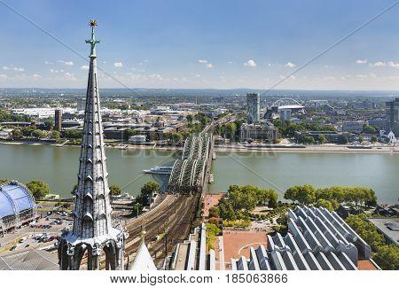 Cologne Hohenzollern Bridge And Rhine, Germany