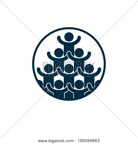 Social Relations Conceptual Logo, Unique Vector Symbol. Social Interaction, Society And Person.
