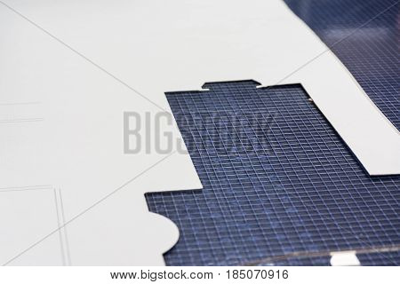 Grid Table Paper Cutting Template White Paper Packaging Equipment Development