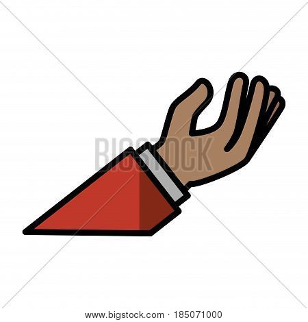 Hand with palm open icon vector illustration graphic design