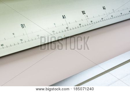Printing Equipment Rulers Scales Detail Measure Closeup